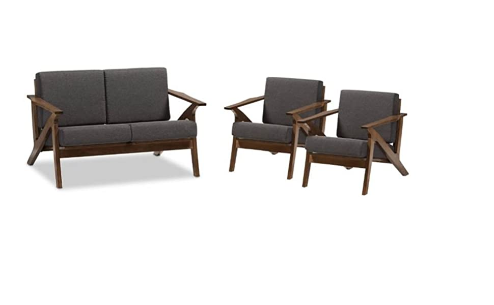 Sqaure Mid Century Modern Accent Chairs.Amazon Com Home Square 3 Piece Mid Century Modern Sofa Set With