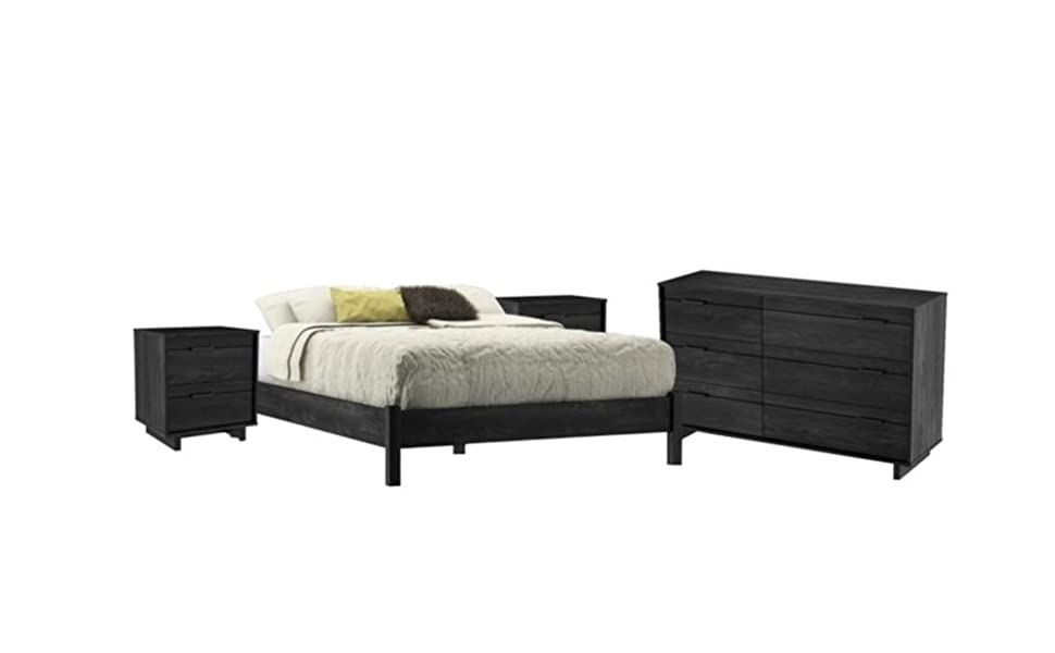 Amazon Com Home Square 4 Piece Bedroom Set With Dresser Bed And