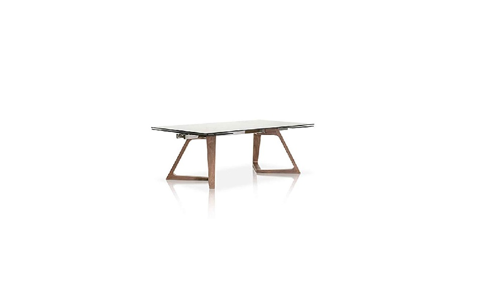 Amazon.com - MAKLAINE Extension Dining Table in Walnut and ...