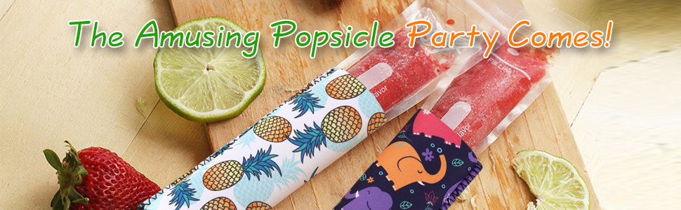 10pcs Chevron Bluecell 10pcs Chevron Gradient Color Reusable Neoprene Insulator Ice Pop Freezer Sleeves Holders Anti-freezing Popsicle Covers Bags