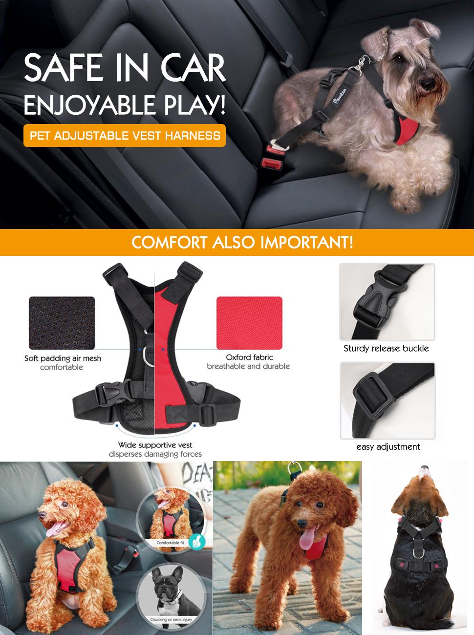 Amazon Com Pawaboo Dog Safety Vest Harness Pet Dog