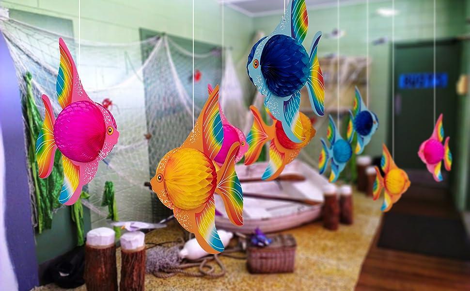 Amazon.com: 90shine 12PCS Tropical Fish Party Decorations