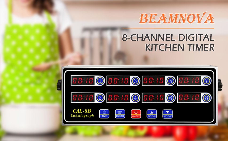 8 channel digital kitchen timer