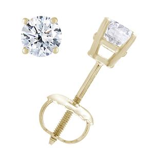 1/3 cttw Certified Diamond Earrings 14K Gold