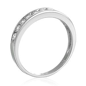 AGS Certified I1-I2 1/2 ctw 14K Classic Diamond Wedding Band