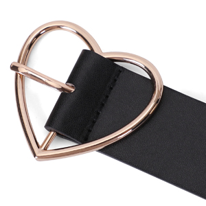 heart belt black