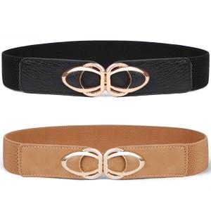 Women Stretchy Wide Waist Belt for Dress Ladies Elastic Cinch Retro Belt