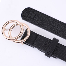 black double  o ring belt