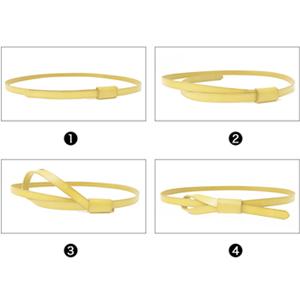 JASGOOD Women Leather Skinny Belt for Dress Adjustable Thin Waist Belt for Lady