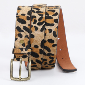 JASGOOD Leopard Print Leather Belt for Women Jeans Pants Waist Belt for Dresses