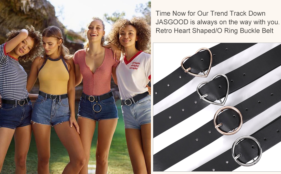 heart shaped leather belt for women