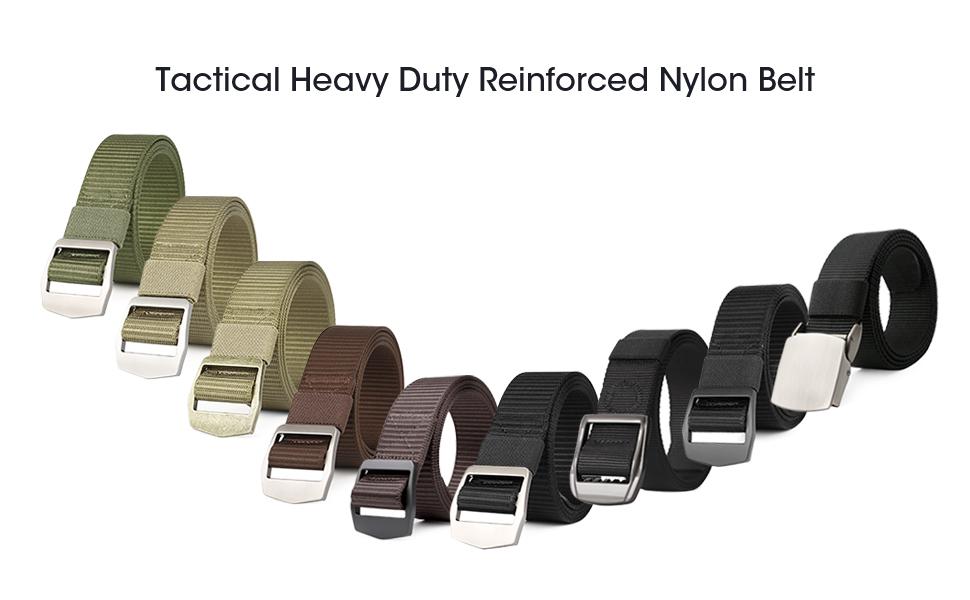 JASGOOD Men Tactical Heavy Duty Reinforced Nylon Belt Adjustable Military Belt