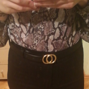 women double o ring buckle belt