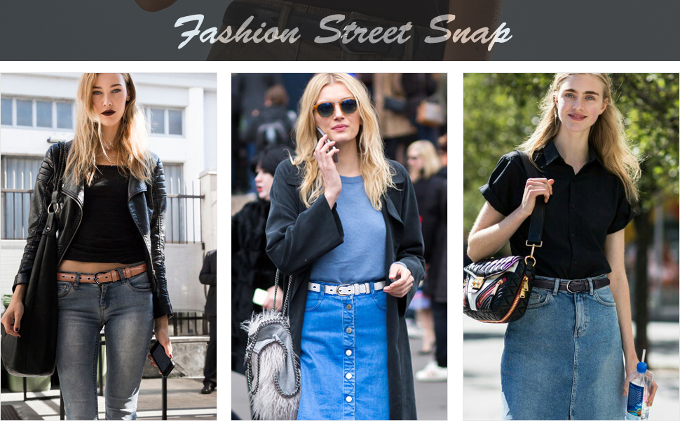 women skinny jeans belt
