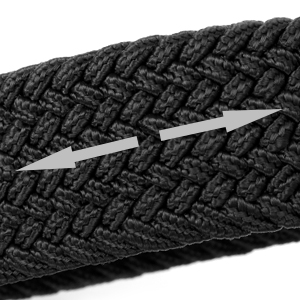 "Braided Canvas Stretch Belt Elastic Casual Belt for Men/Women/Junior 1.3""Wide"