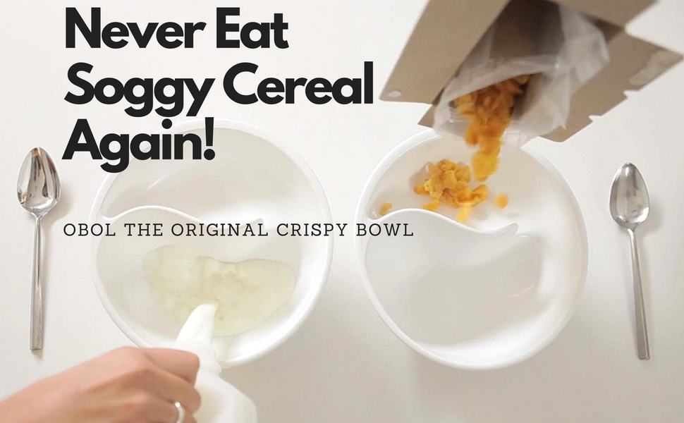 Amazon obol the original never soggy cereal bowlwith the obol is the unique and easy to use bowl that has become the favorite for cereal lovers around the world the patented spiral slide design changed the ccuart Image collections
