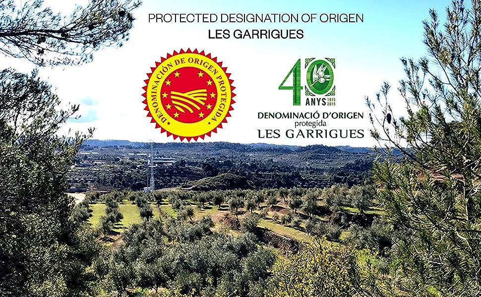 pdo, les garrigues, spain, arbequina, protected, designation, origin, henri mor, private reserve