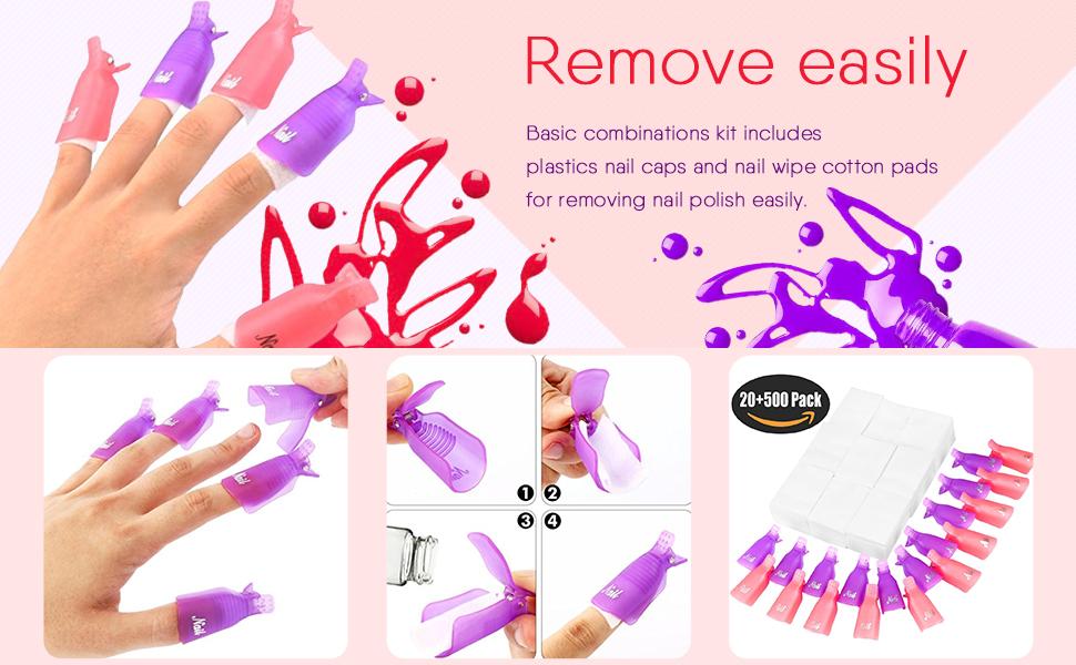 Amazon.com : Nail Polish Remover Clips Set, ESARORA Nail Art Polish ...