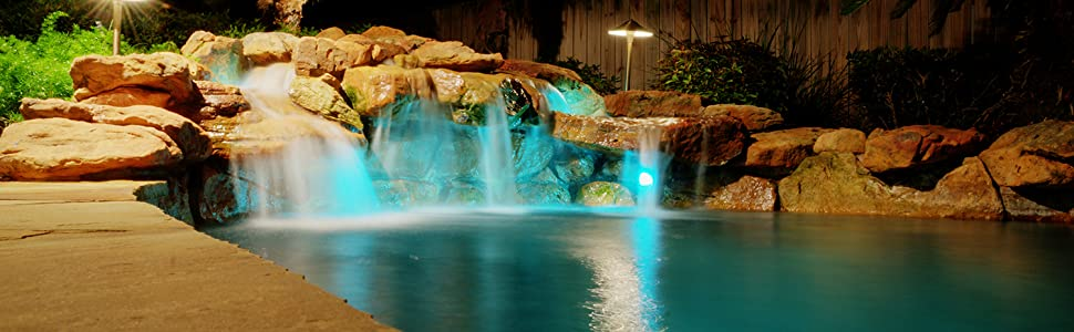 pond lights garden waterfall underwater low voltage lighting outdoor solar patio landscape security