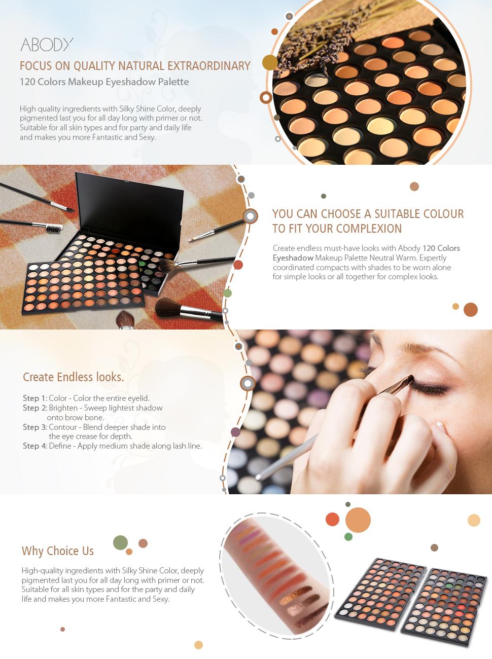 Amazon Abody Eye Shadow 120 Colors Makeup Eyeshadow Palette