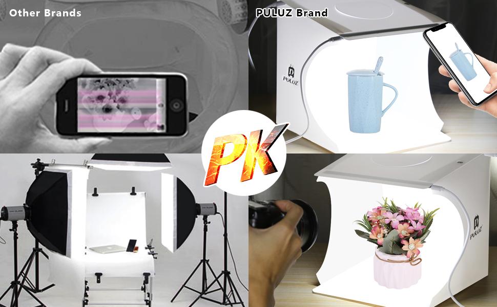 30 cm, 80 Luces LED + 6 Fondos para la visualizaci/ón del Producto Color Blanco Caja de luz port/átil para Estudio fotogr/áfico PULUZ
