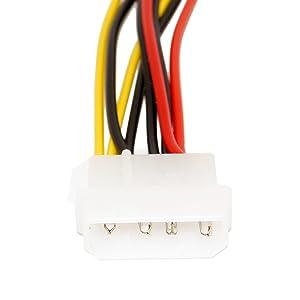 amazon com saitech it 5 pack 4 pin molex to dual sata power y cable rh amazon com Molex to SATA Wiring 4 Pin Fan Connector
