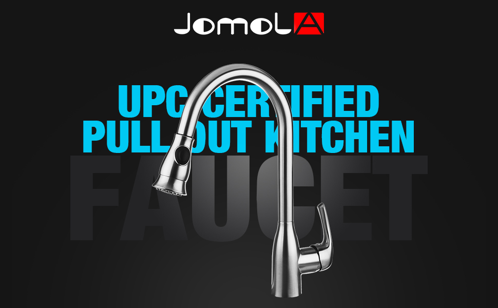 JOMOLA UPC Certified Pull Out Kitchen Faucet Single Handle Sink ...