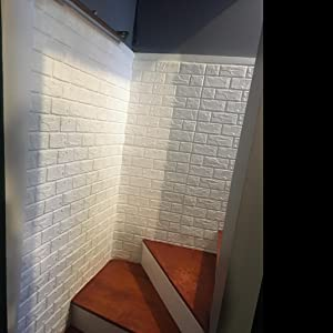 Amazon.com: Wallpaper Brick Panel, White 3D Brick Panel