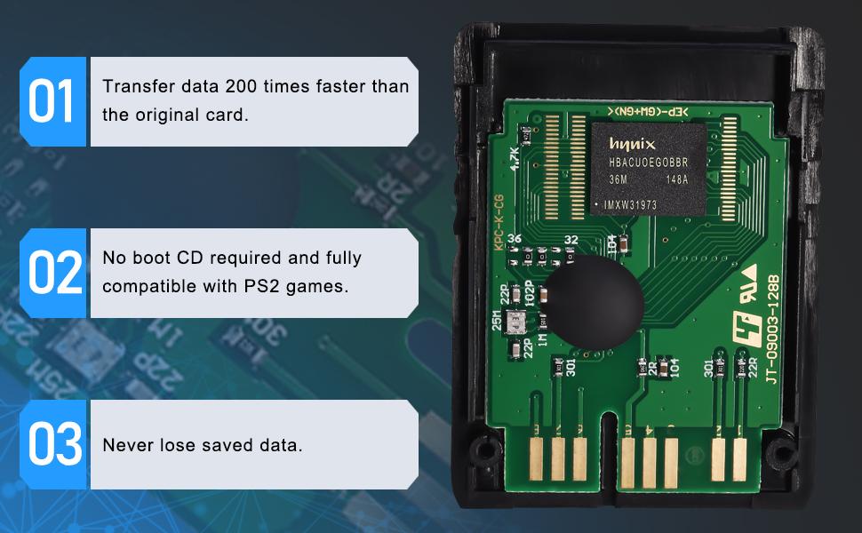 Amazon.com: Voyee - Tarjeta de memoria PS2 de alta velocidad ...