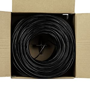 Cat5e Outdoor, 1000ft, Waterproof Direct Burial Rated CMX, 24AWG Solid Bare Copper, 350MHz trueCABLE