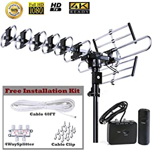 Supports 4K HDTV 1080p,1080l,720p Broadcast. Full band DTV/VHF/UHF Receiver