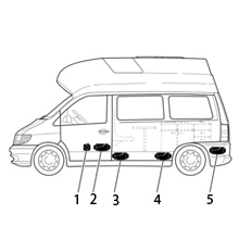 12 V voltios 300 vatios caravana caravanas Boot yacht camiones calefacción CALEFACTOR