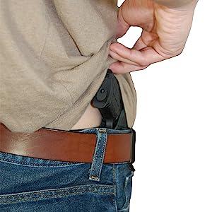 New Barsony Black Leather Tuckable IWB Holster for Mini//Pocket 22 25 380 Pistols