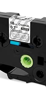 """US STOCK 3PK TZe145 TZ145 White on Clear Label Tape For Brother P-Touch 3//4/"""""""
