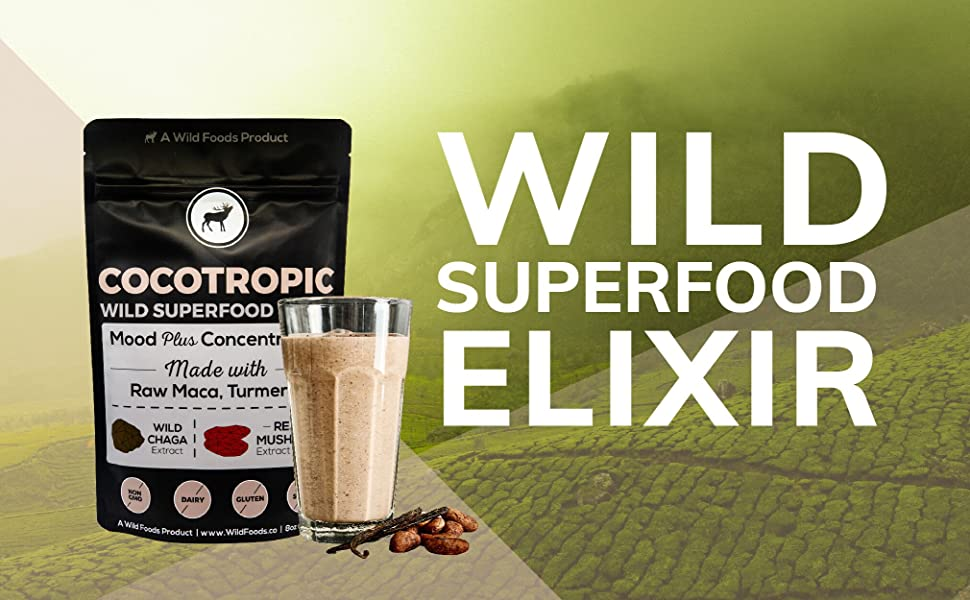 Wild Foods Cocotropic Superfood Elixir All Natural Organically Grown Mushroom Extract Chocolate
