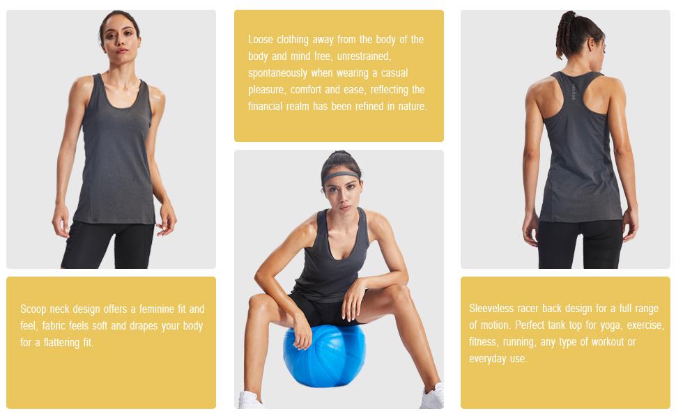Amazon.com: Neleus - Camiseta sin mangas para mujer: Clothing