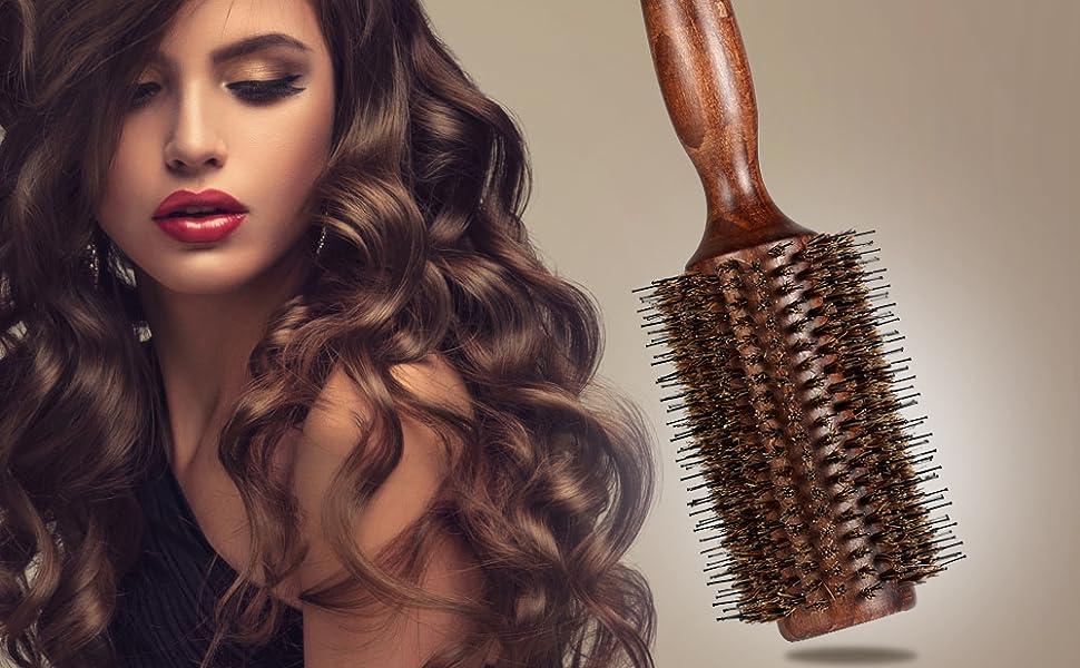 Amazon Bestool Hair Brush Boar Bristle Round Hair Brush With
