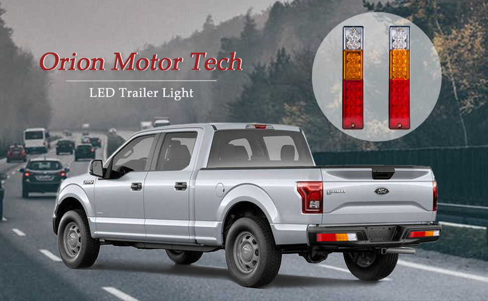 Amazon orion motor tech 2x 20 led waterproof trailer tail light orion motor tech 2x 20 led waterproof trailer tail light bar dc 12v red amber white turn signal and parking reverse brake running lamp for car truckpack aloadofball Image collections