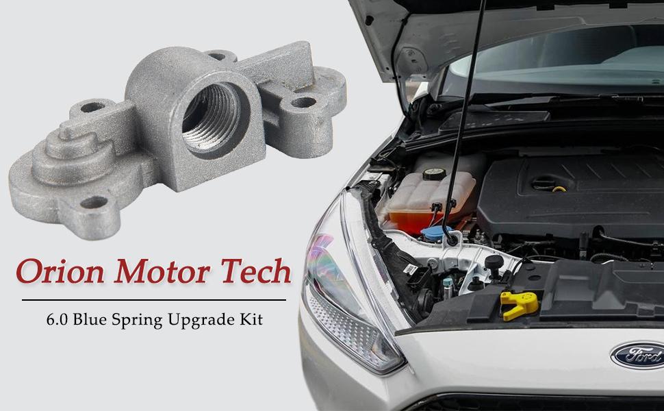 OEM 3C3Z-9T517-AG 2 Sets of Orion Motor Tech 6.0L Powerstroke Upgrade Kit 6.0 Blue Spring Fuel Pressure Regulator Kit for Ford 2003-2007 Ford F250 F350 F450 F550 2