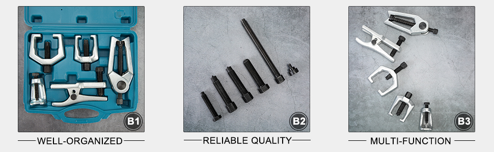 Orion Motor Tech 5PCS Ball Joint Separator Tie Rod End Remover Pitman Arm Puller Service Splitter Removal Tool Kit BL