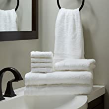 hotel, towel set, white, plush, bath sheet