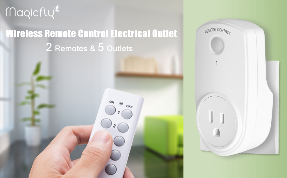 Magicfly Wireless Remote Control Electrical Outlet Switch