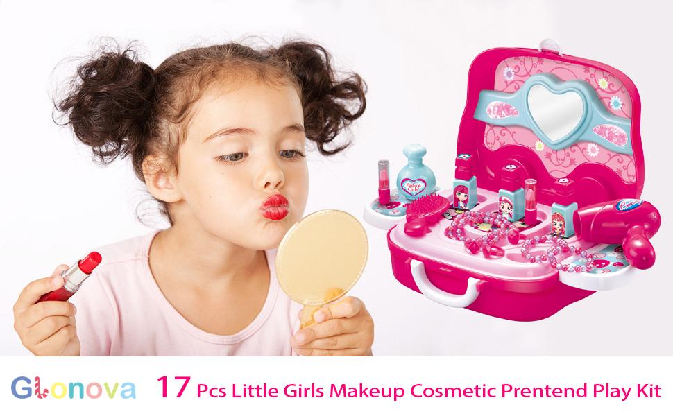 Amazon Com Glonova Kids Makeup Kit Pretend Play Toys For