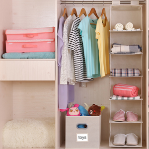 1* Collapsible Maicfly Hanging Closet Organization