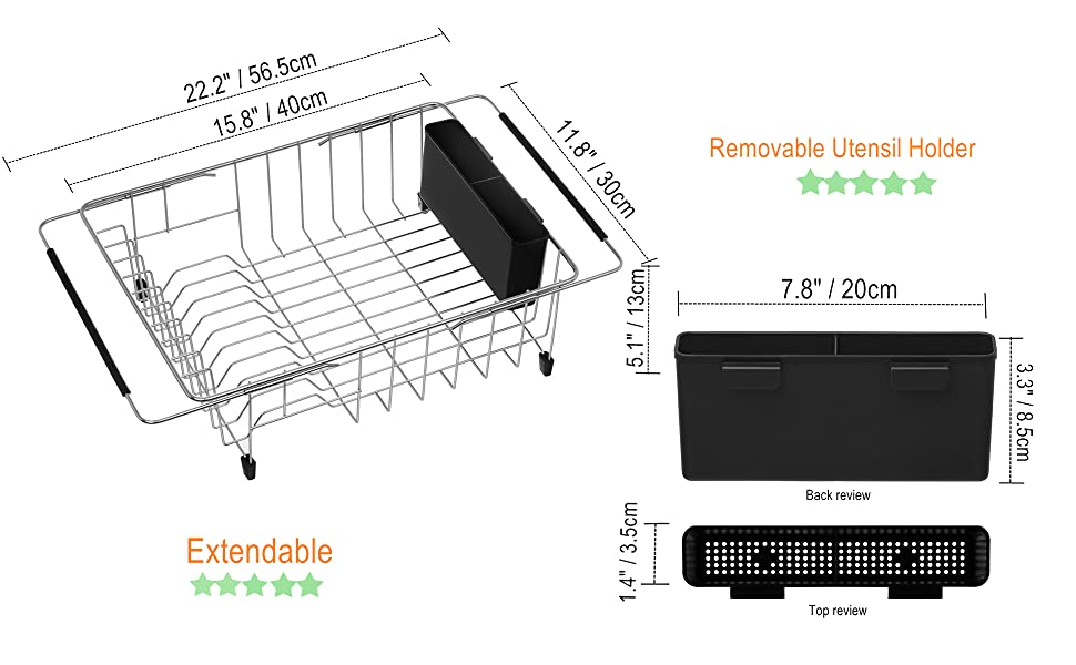 Amazon Com Ipegtop Expandable Deep Amp Large Dish Drying