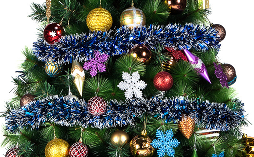 Christmas Tinsel Garland, Classic Shiny Sparkly Christmas Tree Ornaments - Amazon.com: IPEGTOP 3Pcs X 6.6ft Christmas Tinsel Garland, Classic