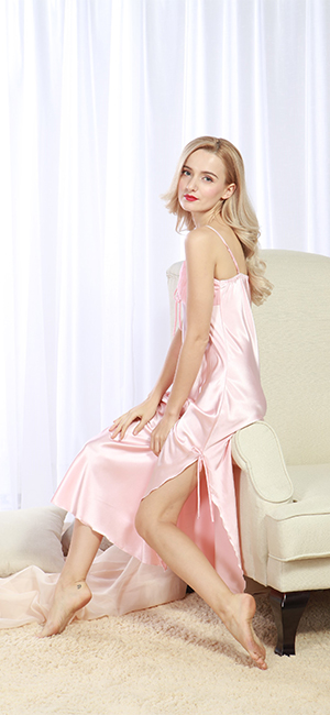 f813eb00c6 iooho Women s Satin Nightgown Long Slip Sleeveless Sleepwear Night ...