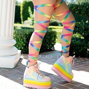 c07e285d8c76a Amazon.com: iHeartRaves Pair of Non-Slip Baby Blue Leg Wraps: Clothing