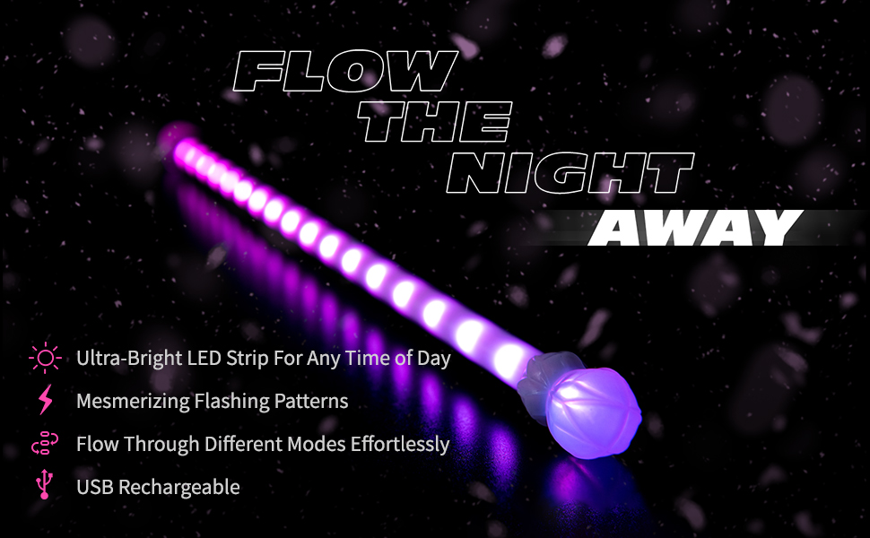 EmazingLights Flow the Night Away Astro Levitation Wand Benefit Icons