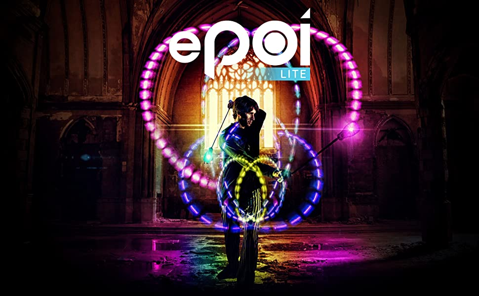 A Brighter Way to Spin Poi EmazingLights ePoi Lite LED Poi Balls